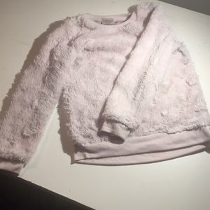 Other - All pink faux fur little girl sweater